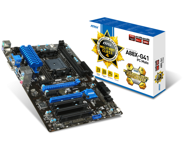 Motherboard - MSI A88X-G41 PC-Mate