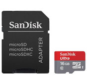 SanDisk Ultra UHS I U1 Class 10 80MBS 16GB microSDHC With Adapter