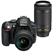 Nikon D5300 kit 18 55 mm And 70 300 mm VR Digital Camera