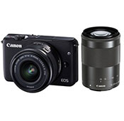 Canon EOS M3 Mirrorless Digital Camera With 55-200 IS STM And 15-45 IS STM Lenses