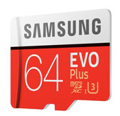 Samsung Evo Plus UHS I U3 Class 10 100MBps 64GB microSDXC With Adapter