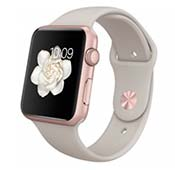Apple Watch 38mm Rose Gold Aluminum Case with Lavender Sport Band
