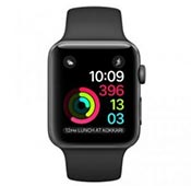 Apple Watch Sport-38mm Gray Aluminum Case Black Silicon