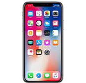 Apple iPhone X 256GB Silver Mobile Phone