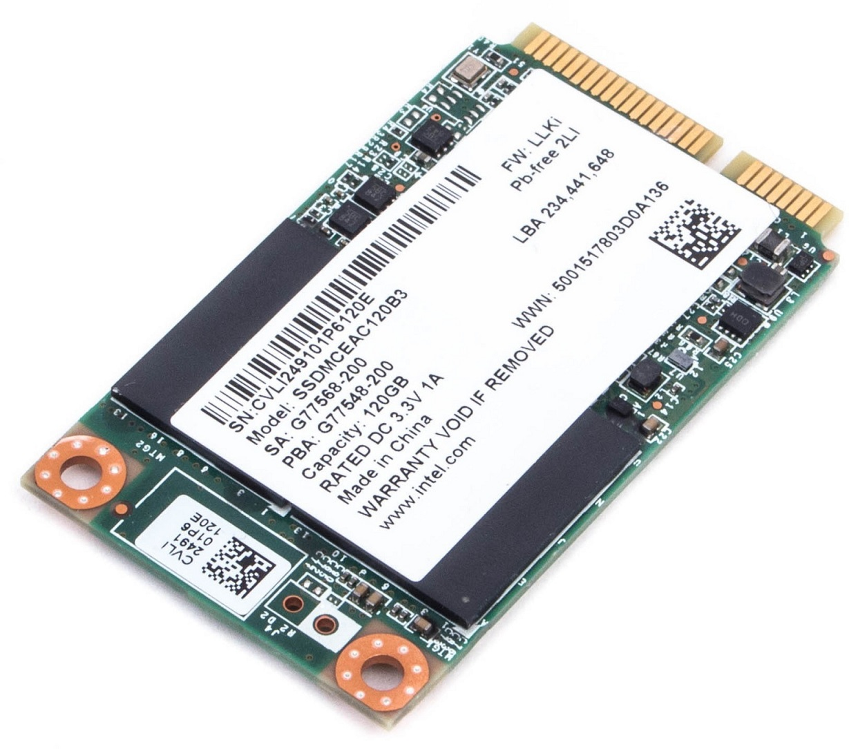 SSD mSATA - Intel 525 / 120GB