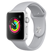 Apple Watch Series 3 GPS 42mm Aluminum Case with Silver Sport Band