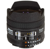 Nikon AF Fisheye-Nikkor 16mm F2.8 Camera Lens