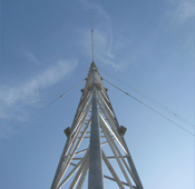 no name G45 Trihedral Guyed Tower Installation