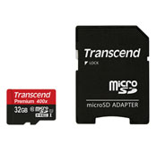 Transcend Premium 64GB UHS-I U1 Class 10 60MBps 400X microSDXC With Adapter