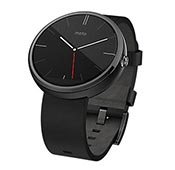 Motorola Moto 360 Leather Band Smart Watch
