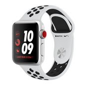 Apple Watch 3 Nike Plus 38mm Silver Aluminum Case with Pure Platinum-Black Nike Sport Band
