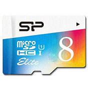 Silicon Power Color Elite 8GB MicroSDHC Memory Card