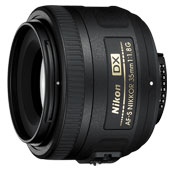 Nikon AF-S DX NIKKOR 35mm F1.8G Camera Lens